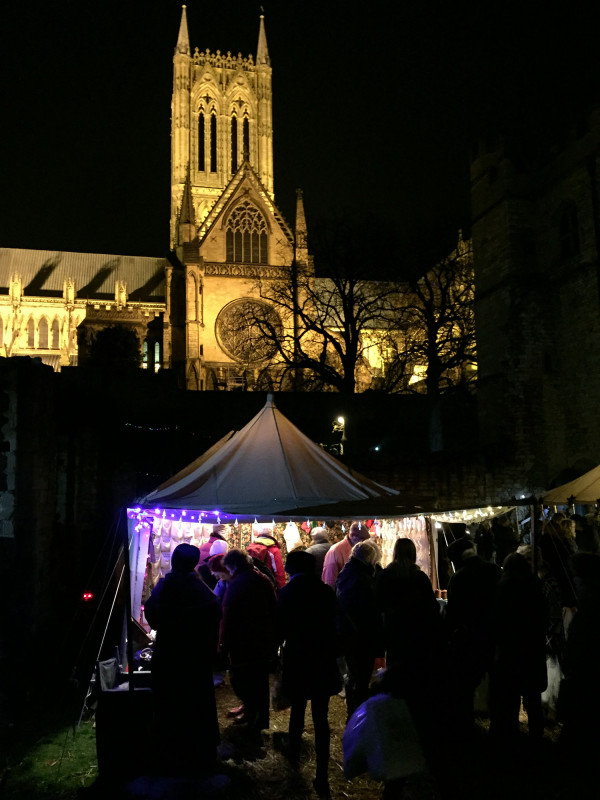 The Lincoln Cathedral - Lincoln Christmas Market